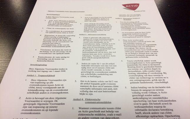Vijf vragen over het gebruik van algemene voorwaarden