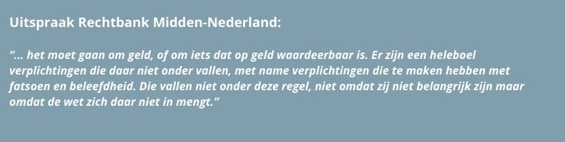 Principe opschorting door rechtbank Midden-Nederland